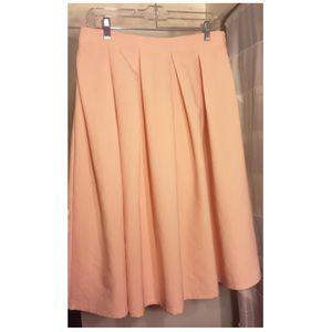 Blush Pink A-Line Flare Skirt